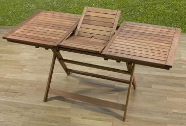 Tavolo Rettangolare Allungabile Giardino legno meranti 120/160x70x73h