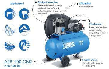 Abac LINE A29 100 CM3 - Compressori monofase con azionamento a cinghia