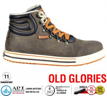 Scarpe antinfortunistiche Cofra ALLEY S3 CI SRC taglie dal 39 al 47  Linea OLD GLORIES