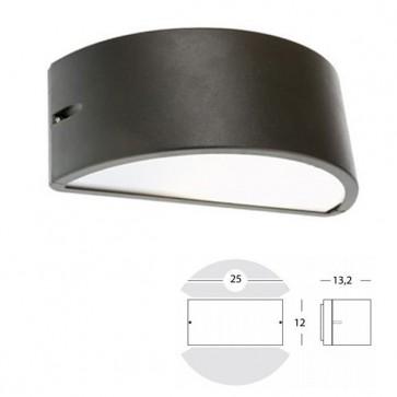 Applique Mezza Luna Chiusa Art. 474/16 Grigio/Alluminio/Corten