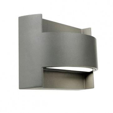 Applique con Emissione in Alto e in Basso Art. 415/72 Bianco/Grigio/Alluminio