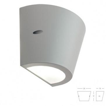 Applique Conico con Emissioni Superiore e Inferiore Art. 414/72 Bianco/Grigio/Alluminio