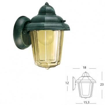Applique lunga vetro ambraArt. 961/32 Nero/Verde