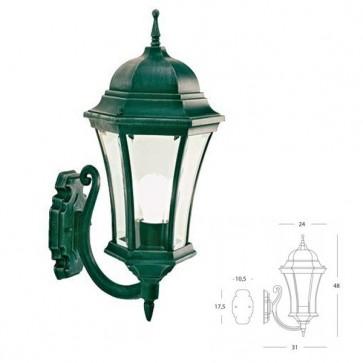 Applique in alto curvata Art. 969/32 Nero/Verde