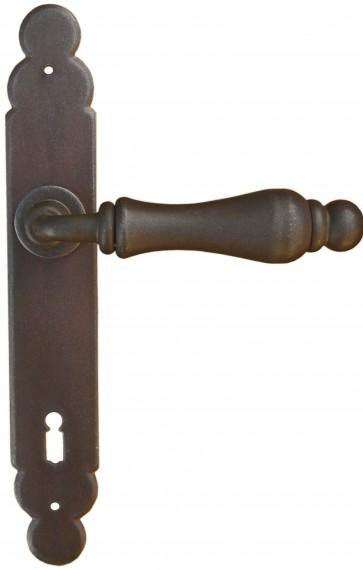 Maniglia Classica per Porta in ferro battuto Galbusera Art.2499 Ant. Ruggine