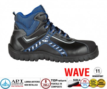 Scarpe Antinfortunistiche Cofra BALTIC BLACK S3 SRC linea WAVE
