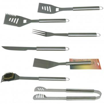 Attrezzi barbecue TEXAS manici in acciaio