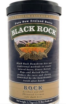 MALTO BIRRA BLACK ROCK BOCK KG.1.7 BIRRA IN CASA DARK BEER