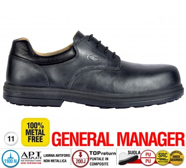 Scarpe antinfortunistiche Cofra BURNLEY S3 SRC taglie dal 38 al 47  Linea GENERAL MANAGER