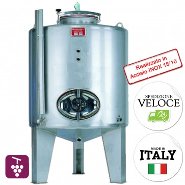 Contenitore Vino Cordivari CANTINA da 500 litri enologico con bocchello scarico