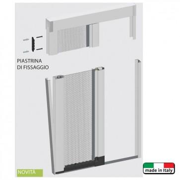 Zanzariera CIGNO e double ad avvolgimento laterale per porte-finestre personalizzata