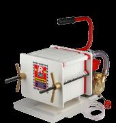 Pompa con filtro enologico ROVER COLOMBO 18 a piastre e cartoni per filtrare vino 36 cartoni OMAGGIO