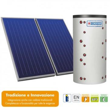Pannello solare CORDIVARI ECO-COMBI 2 800L 5X2,5 MQ CIRCOLAZIONE FORZATA