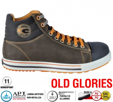 Scarpe antinfortunistiche Cofra CONFERENCE S3 SRC taglie dal 36 al 47  Linea OLD GLORIES