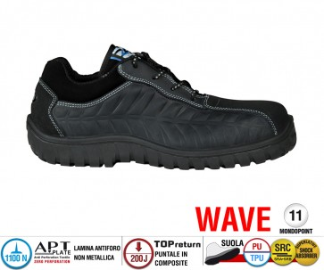 Scarpe Antinfortunistiche Cofra CRUISER BLACK S3 SRC linea WAVE