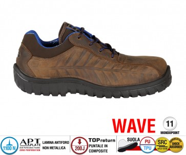 Scarpe Antinfortunistiche Cofra CRUISER BROWN S3 SRC SRC linea WAVE