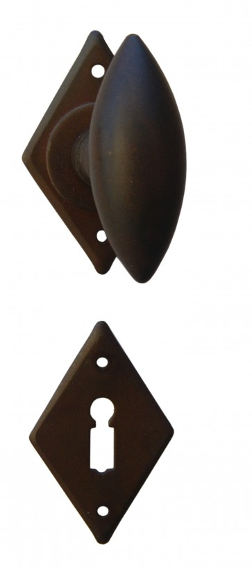 Maniglia Classica per Porta in ferro battuto Galbusera Art.1842 Ruggine