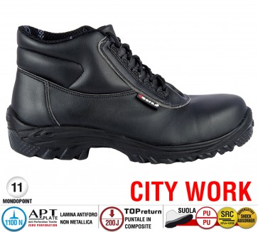 Stivale Cofra Antinfortunistica ETHYL S3 SRC City Work resistenza chimica