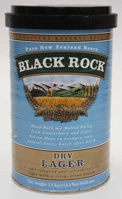 "MALTO ""NEW ZELAND"" BLACK ROCK DRY LAGER 1,5 KG BIRRA FATTA IN CASA"