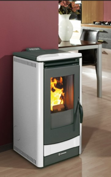 Stufa a Pellet THERMOROSSI 1000 METALCOLOR 7,4KW rivestimento antracite