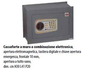 CASSAFORTE A MURO COMBINAZIONE ELETTRONICA DOMUS LOGICA DL/4