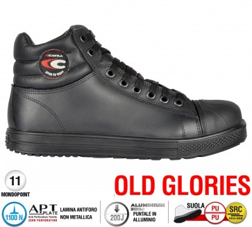 Scarpe antinfortunistiche Cofra FLAGRANT S3 SRC taglie dal 39 al 47  Linea OLD GLORIES