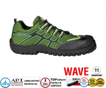 Scarpe Antinfortunistiche Cofra GHIBLI LIME S1 P SRClinea WAVE
