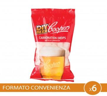 Gocce Carbonato COOPERS 6 PEZZI strarter rifermentazione in bottiglia birra artigianale 250g