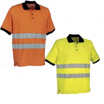 Maglietta Lavoro Antifortunistica Cofra Helpway Fluo