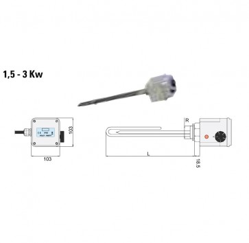 Resistenza Elettrica Riscaldatori Cordivari 1,5 2 3 kW pannelli solari circolazione forzata