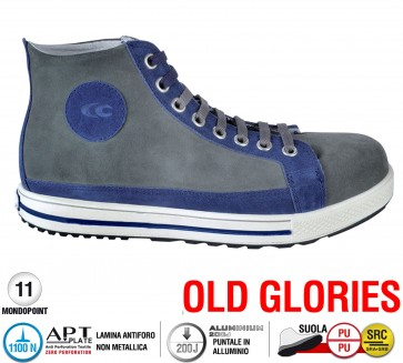 Scarpe antinfortunistiche Cofra LEAGUE S1 P SRC taglie dal 39 al 47  Linea OLD GLORIES