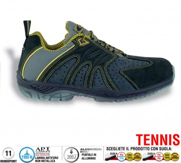Scarpe antinfortunistiche Cofra MATCH POINT S1 P SRC taglie dal 39 al 47  Linea TENNIS