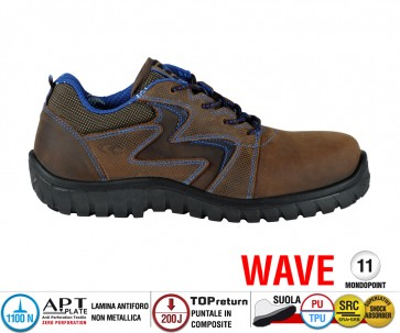 Scarpe Antinfortunistiche Cofra MISTRAL BROWN S3 SRC linea WAVE