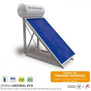 Pannello solare CORDIVARI Natural EVO 200 lt collettori 2 x 2,5 mq CIRCOLAZIONE NATURALE