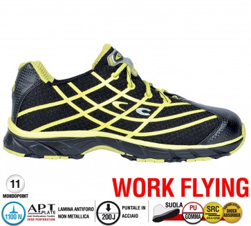 Scarpe antinfortunistiche Cofra NEW ALIEN BLACK S1 P SRC taglie dal 36 al 47  Linea WORK FLYING