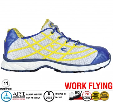 Scarpa Sportive Antinfortunistica Cofra NEW ALIEN WHITE S1 P SRC WORK FLYING