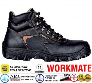 Scarpe antinfortunistiche Cofra NEW ATLANTIC S3 SRC taglie dal 36 al 48  Linea WORKMATE