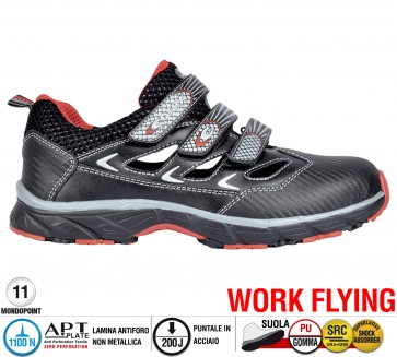 Scarpe antinfortunistiche Cofra NEW BIG FRESH S1 P SRC taglie dal 37 al 47  Linea WORK FLYING