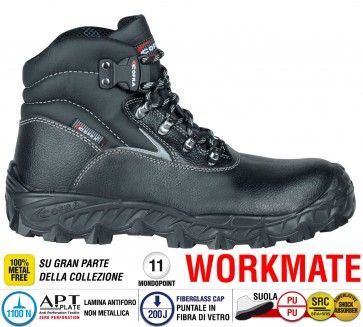 Scarpe antinfortunistiche Cofra NEW BLACK SEA S3 SRC taglie dal 39 al 47  Linea WORKMATE