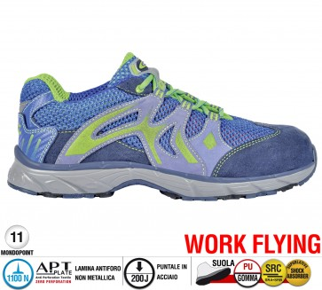 Scarpe antinfortunistiche Cofra NEW DOGVILLE BLUE S1 P SRC taglie dal 36 al 47  Linea WORK FLYING