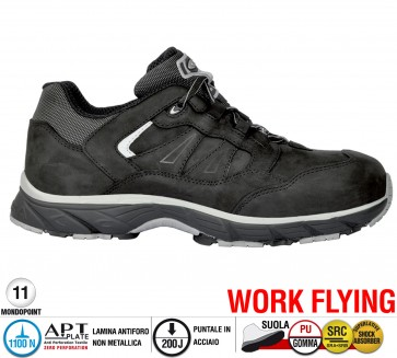 Scarpa Sportive Antinfortunistica Cofra NEW GHOST BLACK S3 SRC WORK FLYING