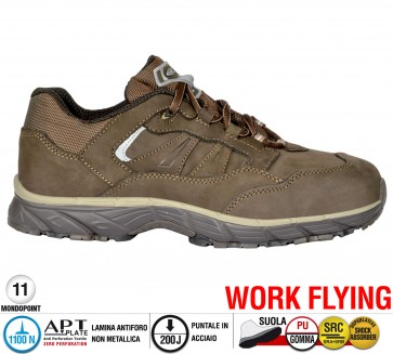 Scarpa Sportive Antinfortunistica Cofra NEW GHOST BROWN S3 SRC WORK FLYING