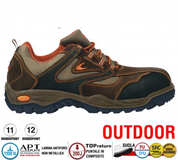 Scarpa Antinfortunistica Cofra OUTDOOR NEW JAZZ S3 SRC calzata ampia