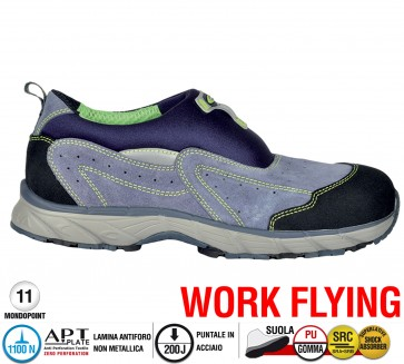 Scarpe antinfortunistiche Cofra NEW SKY S1 P SRC taglie dal 39 al 47  Linea WORK FLYING