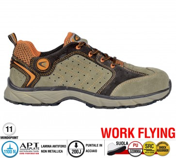 Scarpa Sportive Antinfortunistica Cofra NEW TWISTER BEIGE S1 P SRC WORK FLYING