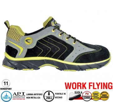 Scarpa Sportive Antinfortunistica Cofra NEW TWISTER BLACK S1 P SRC WORK FLYING