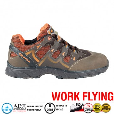 Scarpe antinfortunistiche Cofra NEW WARRIOR BROWN S1 P SRC taglie dal 40 al 47  Linea WORK FLYING