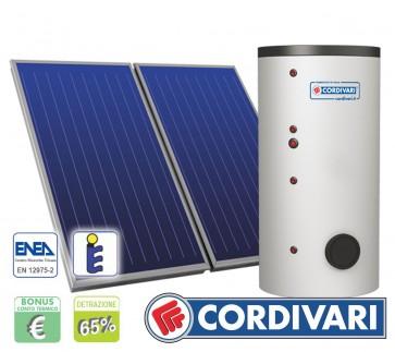 Pannello Solare Cordivari B2 300L 2x2,5mq tetti a Falda Piani e Incasso