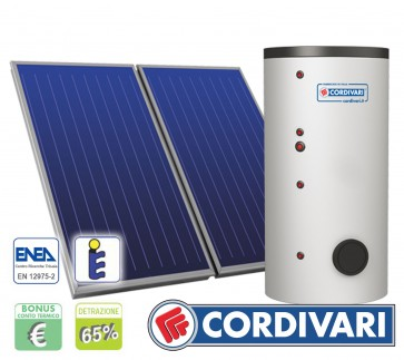 Pannello Solare Cordivari B2 400L 2x2,5mq tetti a Falda Piani e Incasso
