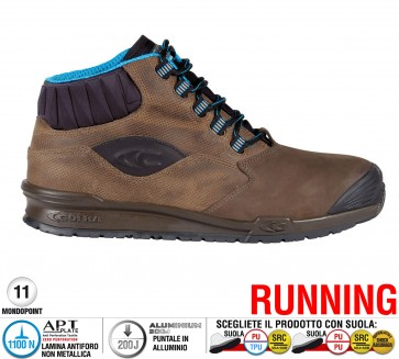Scarpa Antinfortunistica Cofra PERK BROWN S3 SRC RUNNING